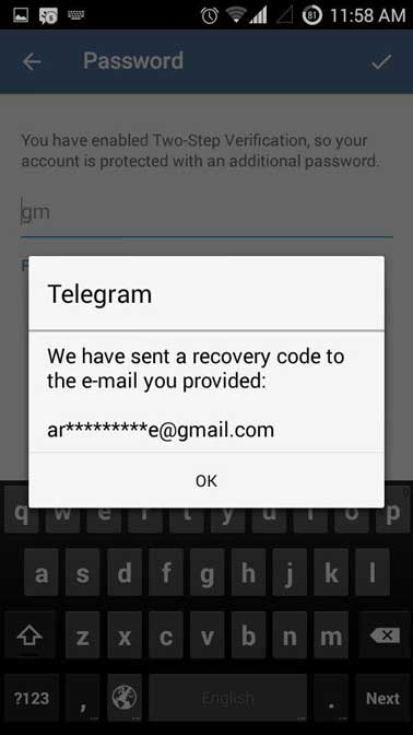 Telegram-recovert-code-to-email